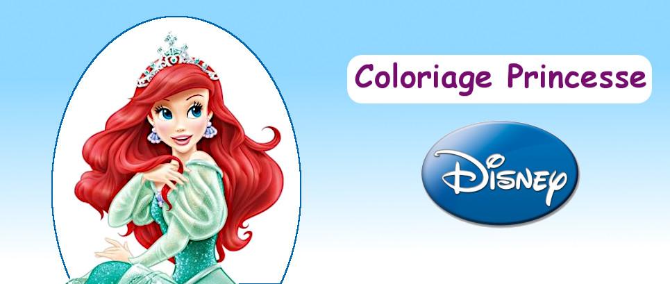 princesse à colorier
