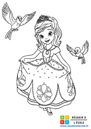 princesse sofia coloriage
