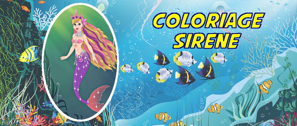 sirene coloriage