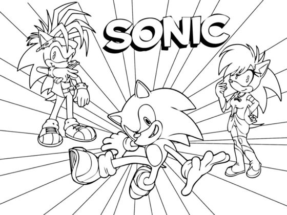 sonic coloriage
