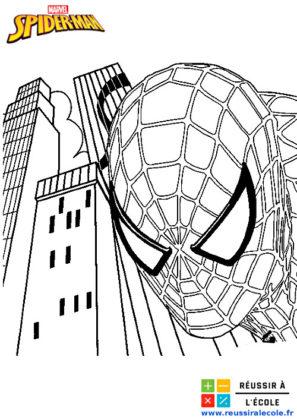 spiderman coloriage