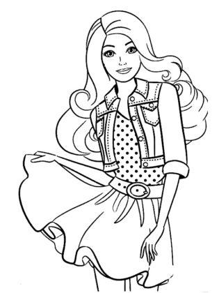 barbie coloriage