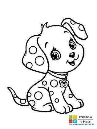 chien coloriage