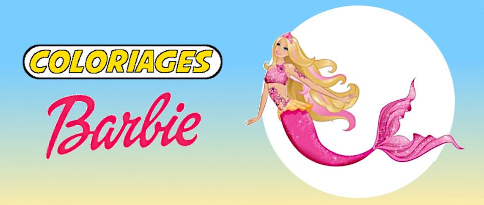 coloriage barbie sirene