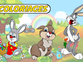 coloriage lapin