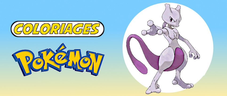 coloriage pokemon mewtwo