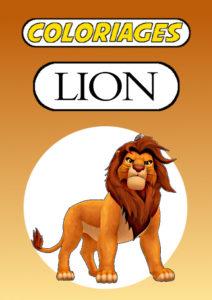 lion coloriage couleur