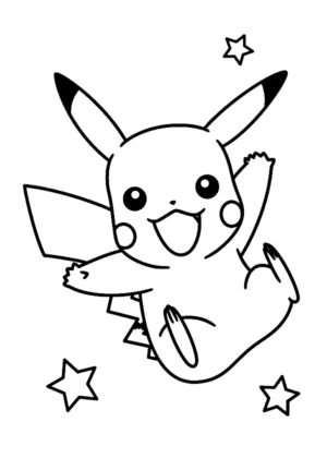 pikachu a colorier
