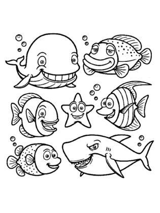 poissons a colorier