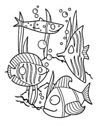 poisson coloriage