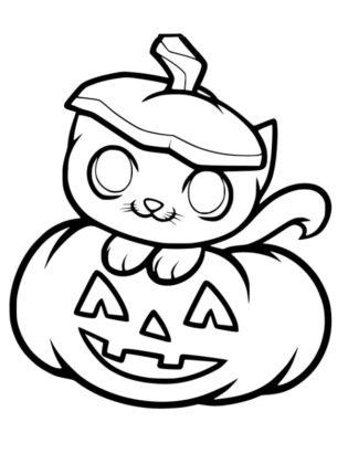 coloriage citrouille halloween