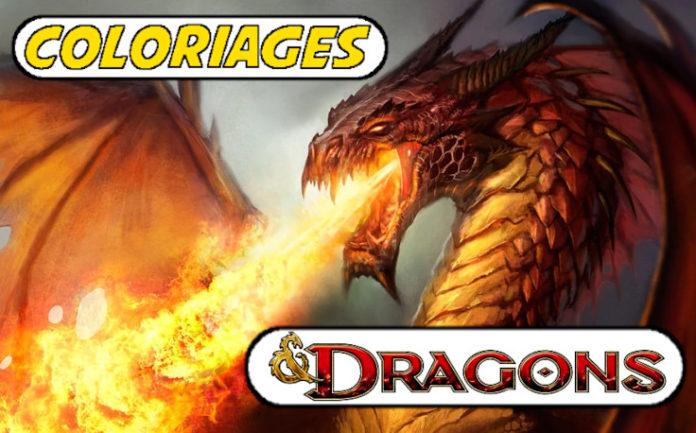 coloriage dragon