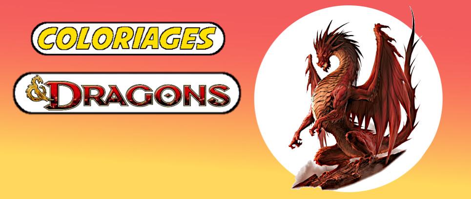 coloriage dragon à imprimer