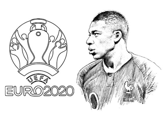 coloriage foot mbappe