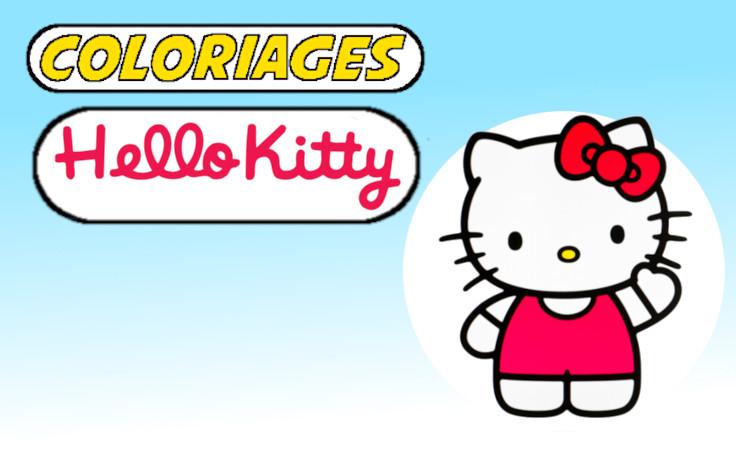 coloriage hello kitty à imprimer