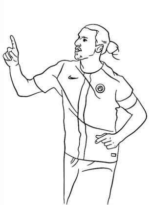 coloriage joueur de foot