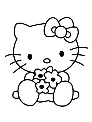 coloriage kitty