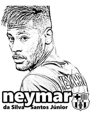 coloriage neymar