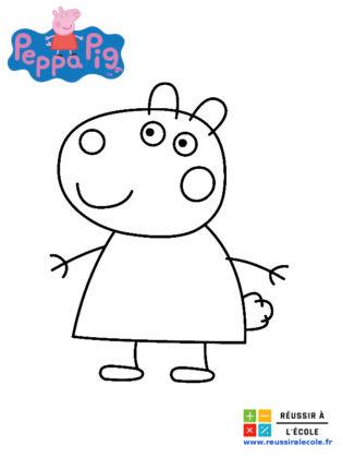 coloriage peppa pig et ses amis