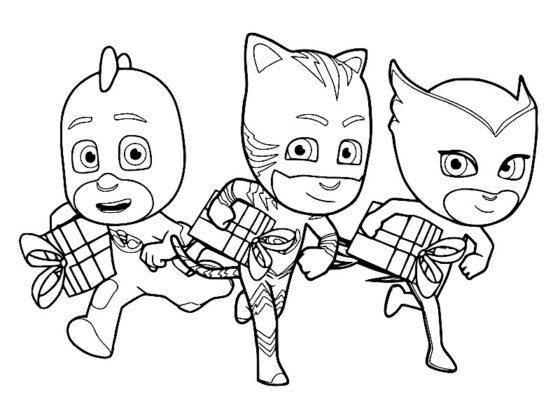 coloriage pyjamasque à imprimer