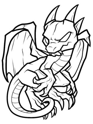 dragon a colorier