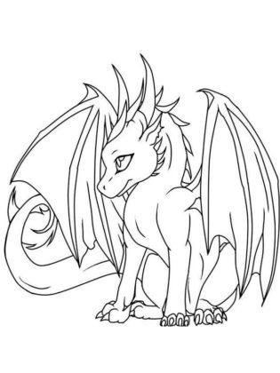 dragon coloriage