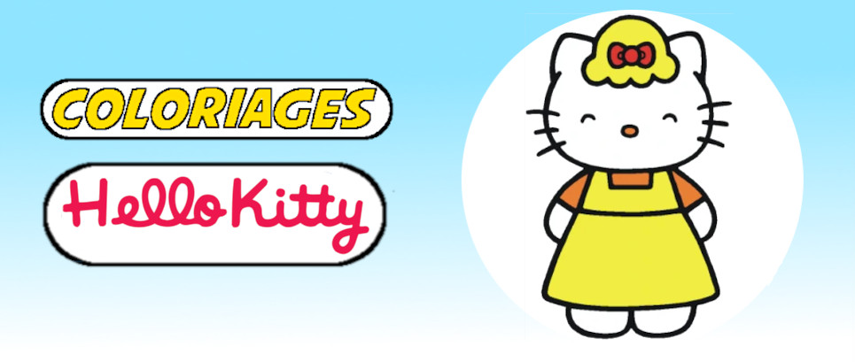 hello kitty a colorier