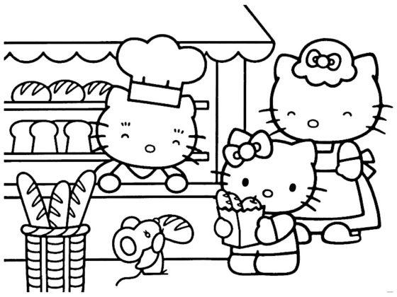 hello kitty à colorier