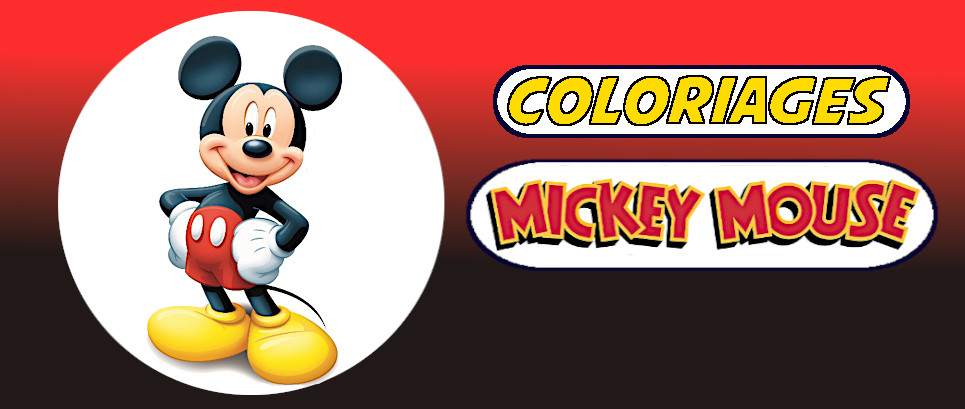 mickey a colorier