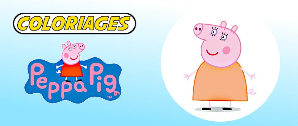 peppa pig à colorier