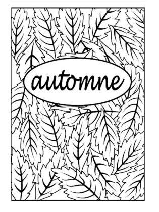 coloriage automne