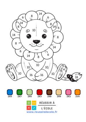 coloriage magique a imprimer